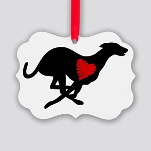 Greyhound Picture Ornament Hearthound