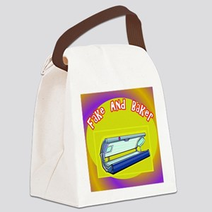 Fake and Bake Tanning Canvas Lunch Bag
