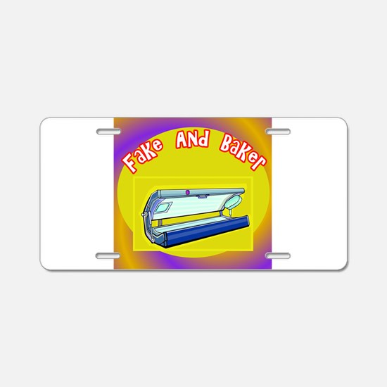 Fake and Bake Tanning Aluminum License Plate