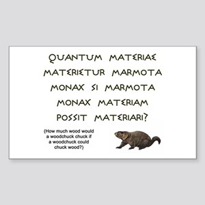 Latin Woodchuck Rectangle Sticker