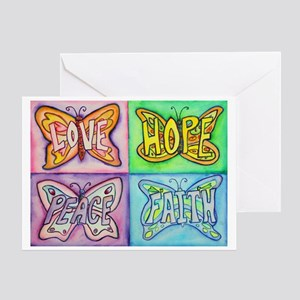 Inspirational Butterfly Word Wings Greeting Card