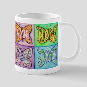 Inspirational Butterfly Word Wings Mug