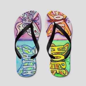 Inspirational Butterfly Word Wings Flip Flops