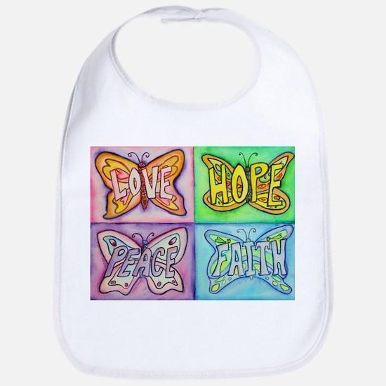 Inspirational Butterfly Word Wings Bib