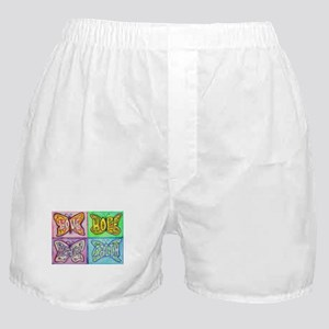 Inspirational Butterfly Word Wings Boxer Shorts