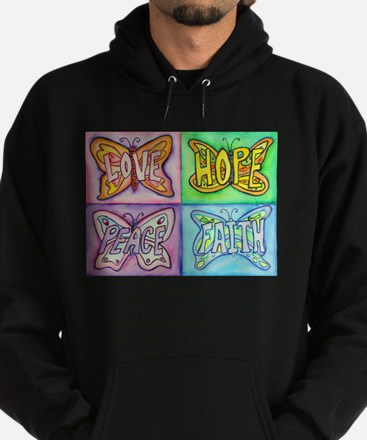 Inspirational Butterfly Word Wings Hoodie