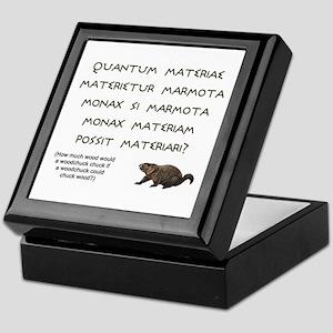 Latin Woodchuck Keepsake Box