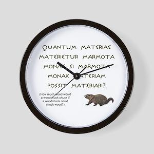 Latin Woodchuck Wall Clock