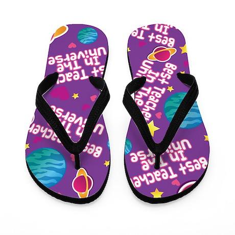 Best Teacher in the Universe Flip Flops