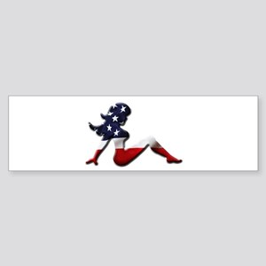 USA Trucker Girl Bumper Sticker