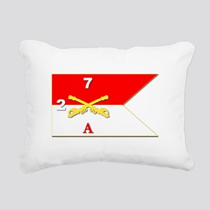 Guidon - A-2/7CAV Rectangular Canvas Pillow