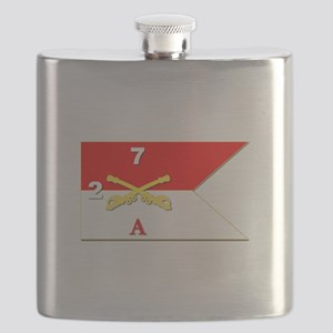 Guidon - A-2/7CAV Flask