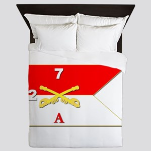 Guidon - A-2/7CAV Queen Duvet