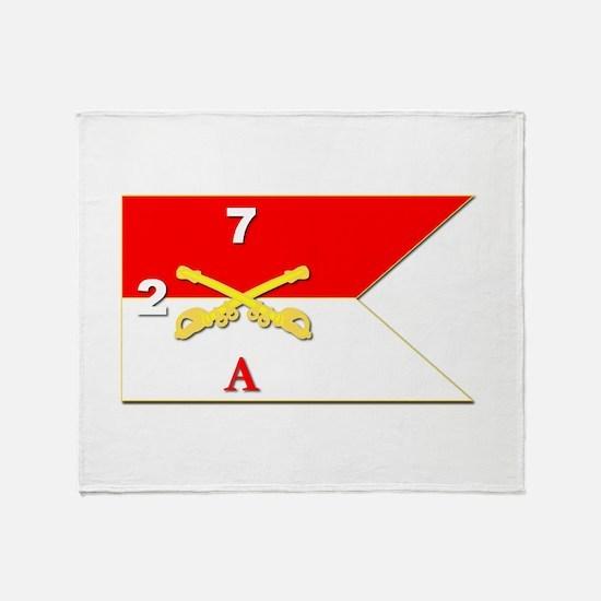 Guidon - A-2/7CAV Throw Blanket