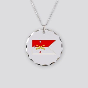 Guidon - A-2/7CAV Necklace Circle Charm