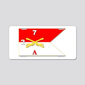 Guidon - A-2/7CAV Aluminum License Plate