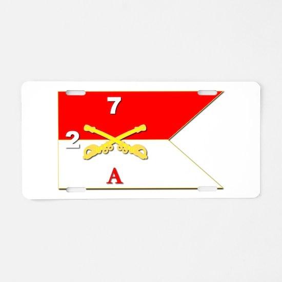 Guidon - A-2/7CAV Aluminum License Plate