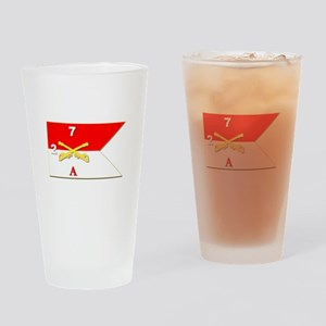Guidon - A-2/7CAV Drinking Glass