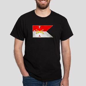 Guidon - A-2/7CAV Dark T-Shirt