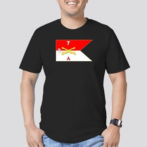 Guidon - A-2/7CAV Men's Fitted T-Shirt (dark)