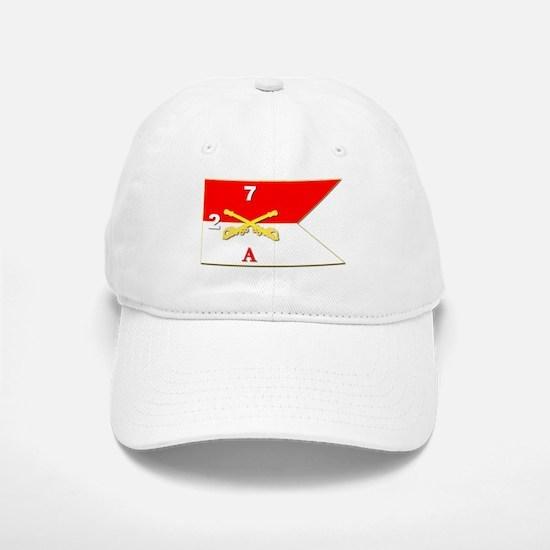 Guidon - A-2/7CAV Baseball Baseball Cap
