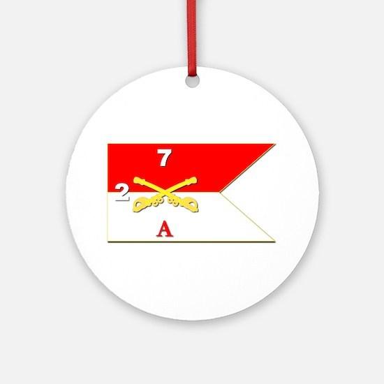 Guidon - A-2/7CAV Ornament (Round)