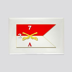 Guidon - A-2/7CAV Rectangle Magnet