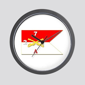 Guidon - A-2/7CAV Wall Clock