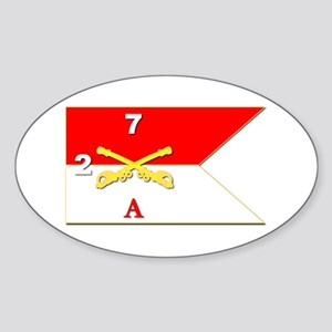 Guidon - A-2/7CAV Sticker (Oval)