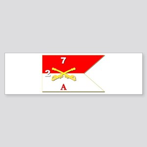 Guidon - A-2/7CAV Sticker (Bumper)