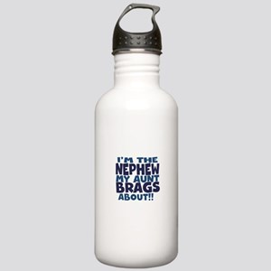 Im the Nephew My Aunt Brags About Water Bottle