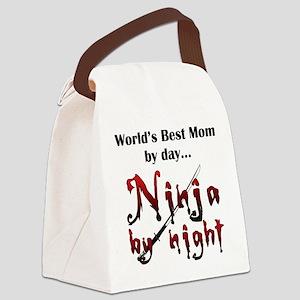 World's Best Mom Ninja Canvas Lunch Bag