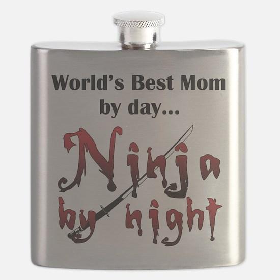 World's Best Mom Ninja Flask