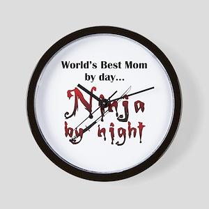 World's Best Mom Ninja Wall Clock