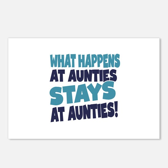 What Happens At Aunties Stays At Aunties Postcards
