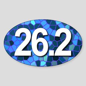 Super Unique 26.2 (blue design) Sticker