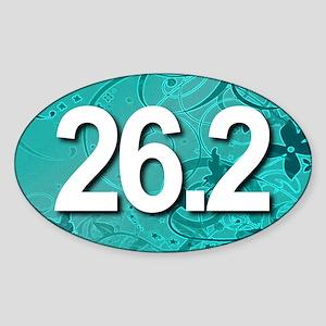 Super Unique 26.2 (teal version) Sticker