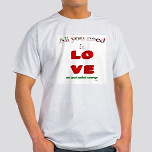 """All You Need Is Love"" Ash Grey T-Shirt"