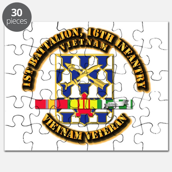 Army - 1st Battalion, 16th Infantry w SVC Ribbons