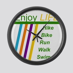 Enjoy Life Large Wall Clock