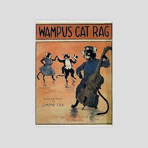Wampus Cat Rag, Vintage Poster 5'x7'Area Rug