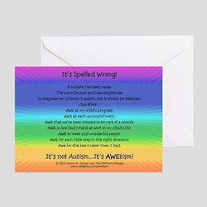 AWEtism Poem Greeting Cards (Pk of 10)