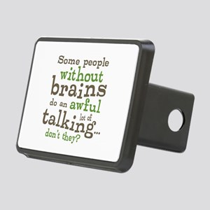 People Without Brains Rectangular Hitch Cover