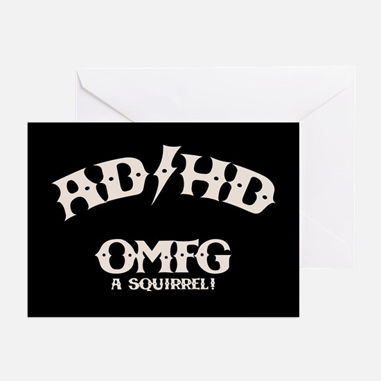 AD/HD OMFG Greeting Cards (Pk of 10)
