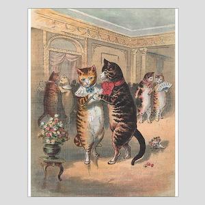Cats Dancing, Vintage Art Posters
