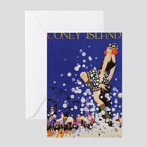 Coney Island, Vintage Poster Greeting Card