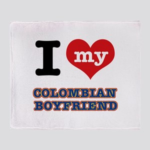 I love my Colombian Boyfriend Throw Blanket