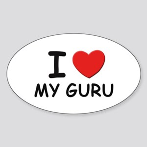 I love gurus Oval Sticker