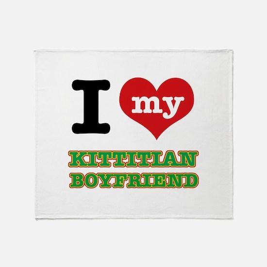 I love my Kittitian Boyfriend Throw Blanket