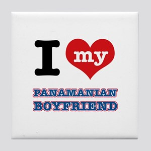 I love my Panamanian Boyfriend Tile Coaster